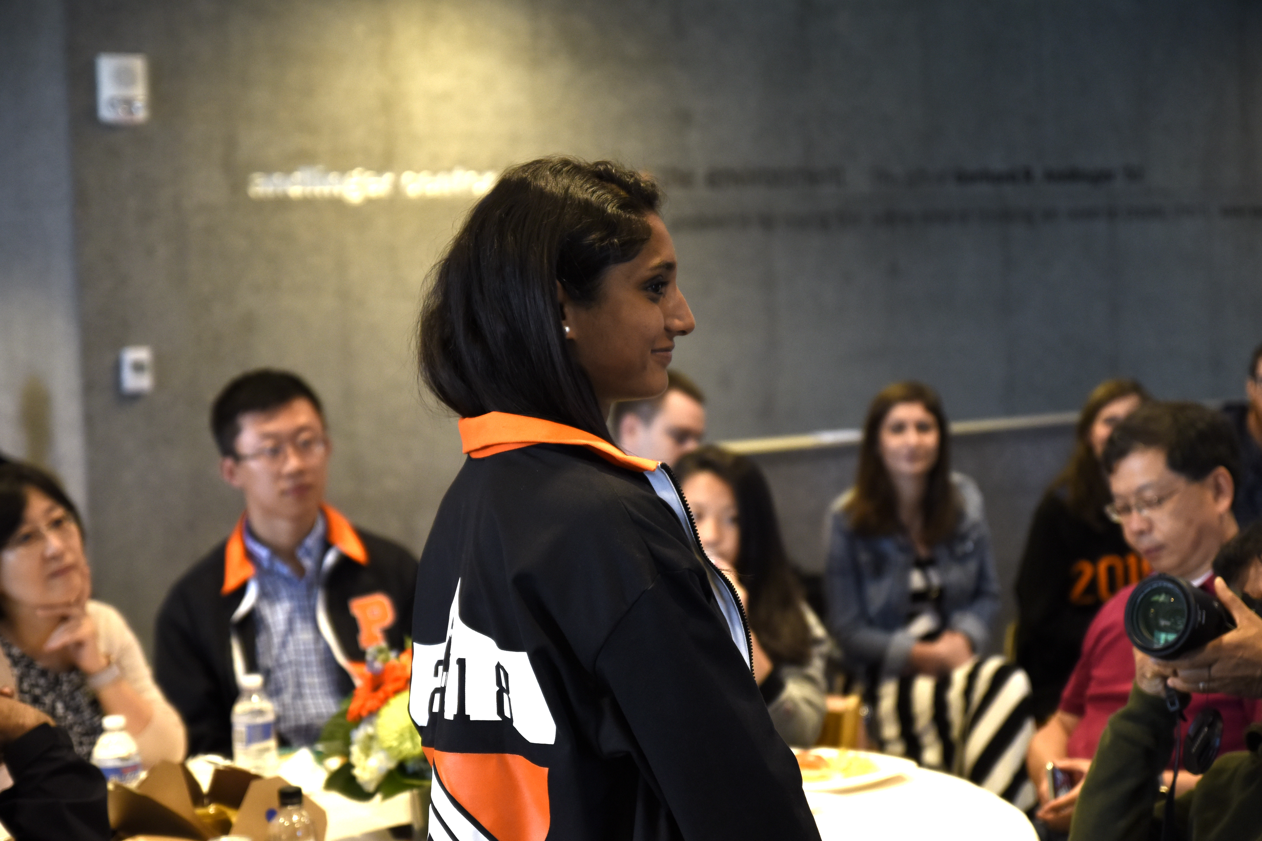 Vineeta Reddy '18 was recognized during the Class Day Reception at the Andlinger Center.