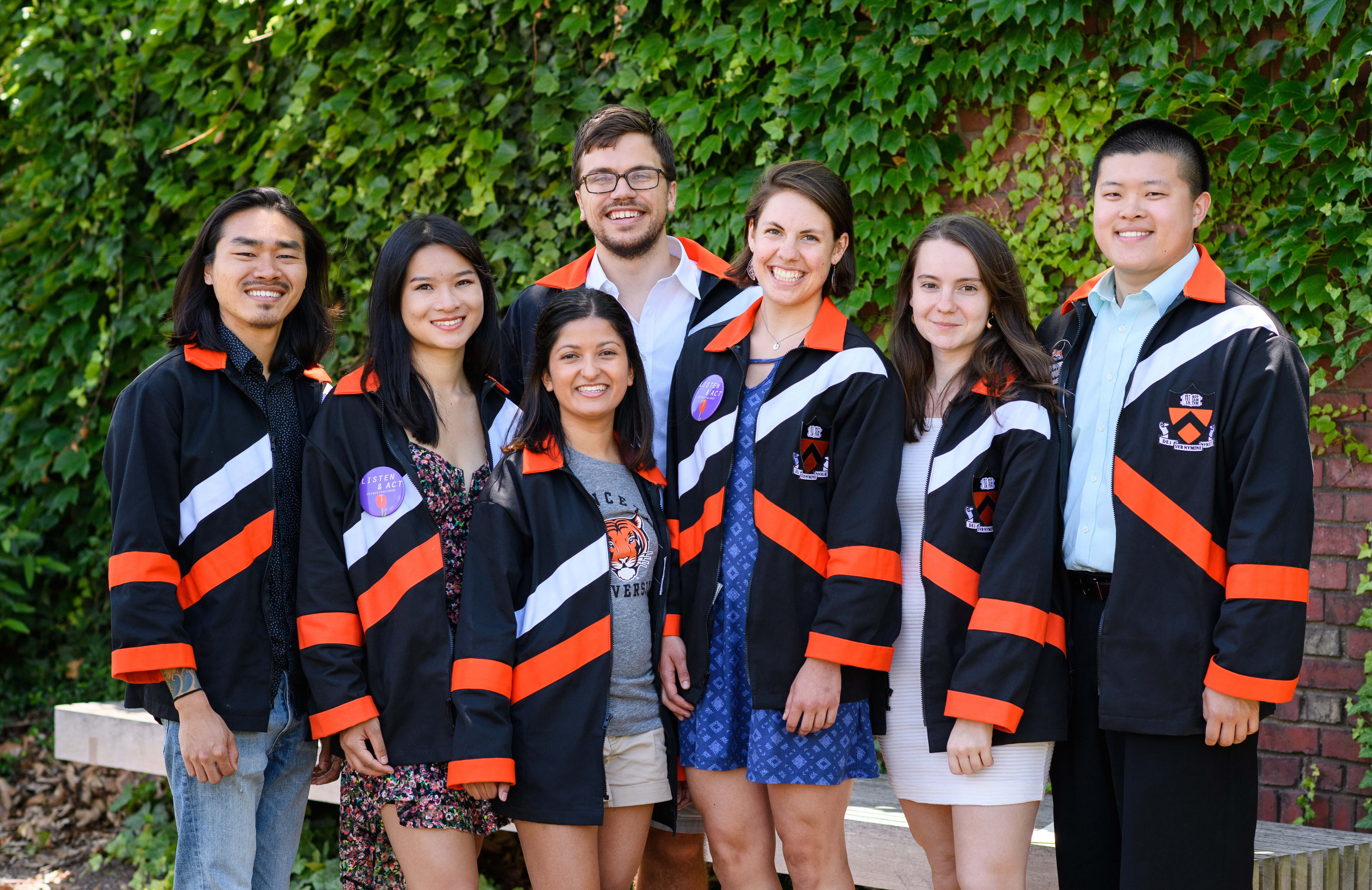 Princeton students pose in their class robes.