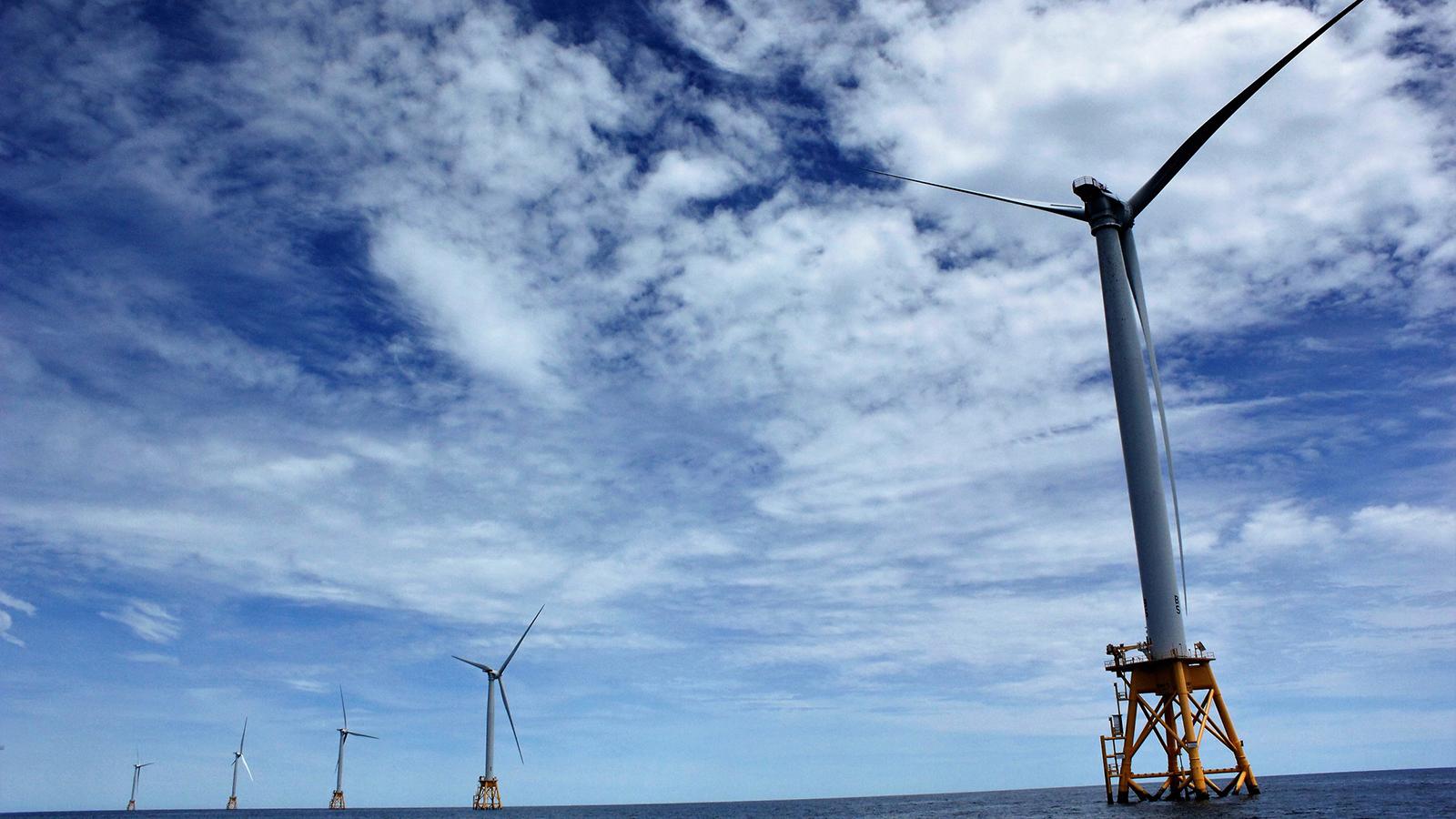 Block Island wind farm in Rhode Island. (Photo by Molly A. Seltzer)