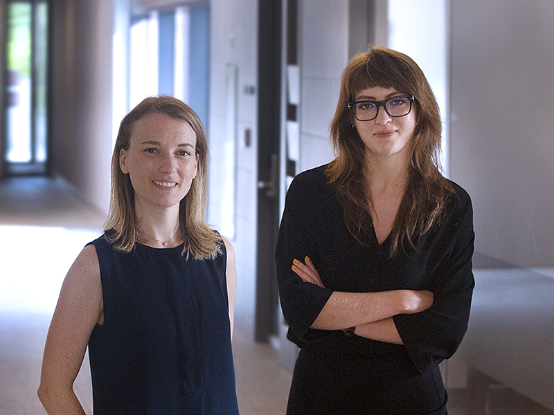 Photo of student Julie Euvrard and Allyson McGaughey