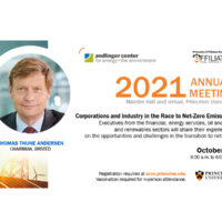 The Andlinger Center for Energy and the Environment 2021 Annual Meeting – October 27